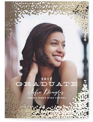 Gold Rush Foil-Pressed Graduation Announcements
