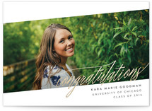 At An Angle Foil-Pressed Graduation Announcements