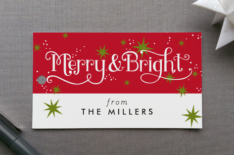 Merry and Bright Sparkles Gift Tags