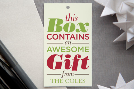 Awesomeness Inside Gift Tags