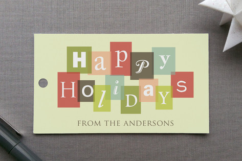 Holiday Letters Gift Tags