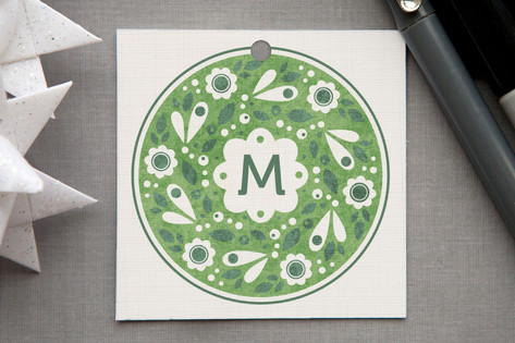 Wreath Stamp Gift Tags