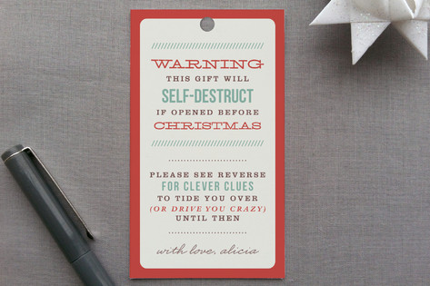 Clever Clues Gift Tags