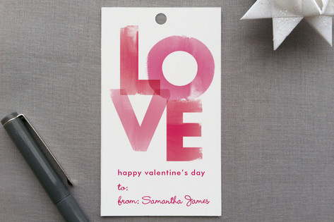 Watercolor Love Gift Tags