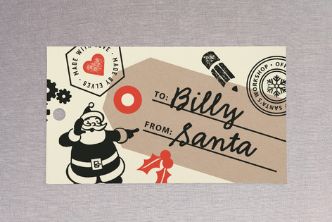 Santa's Workshop Official Gift Tags