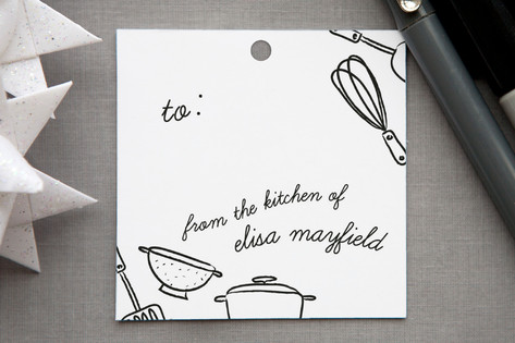 Kitchen Tools Gift Tags