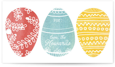 Painted Eggs Gift Tags