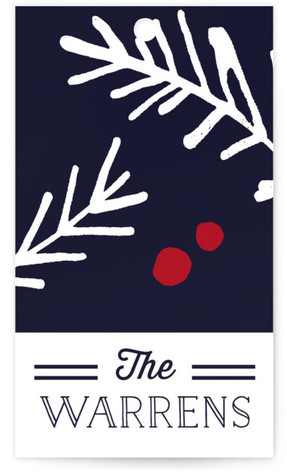 Navy Pine Gift Tags