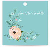 Elegant Aqua Floral Gift Wrap