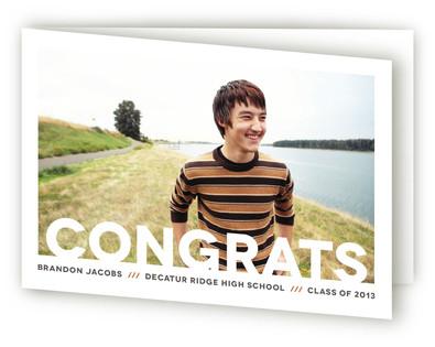 Modern Congrats Graduation Greeting Cards