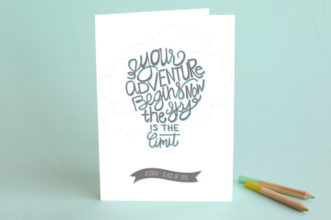 Inspirational Balloon Graduation Greeting Cards