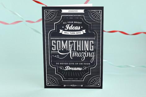 Chalkboard Dreams Graduation Greeting Cards