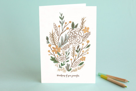 Muted Bouquet Just Because Greeting Cards