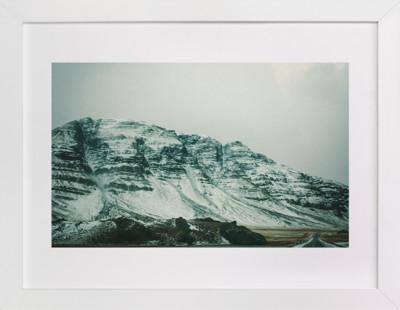 A Snowy Pass Art Print