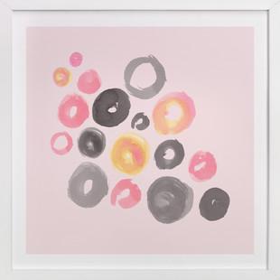Watercolor Dots Art Print