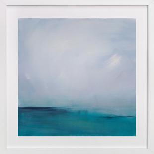 Distant Island Pier Art Print