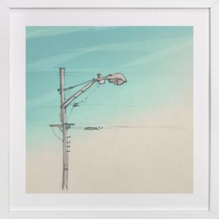 Study of an urban street lamp Art Print