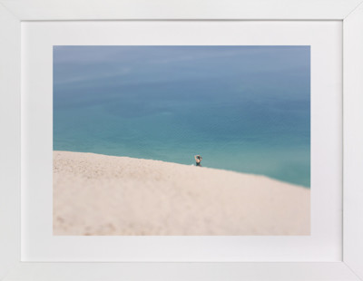 Lone Sunbather on Dunes Art Print