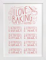 I Love Baking And Math