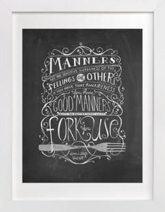 Manners Art Print