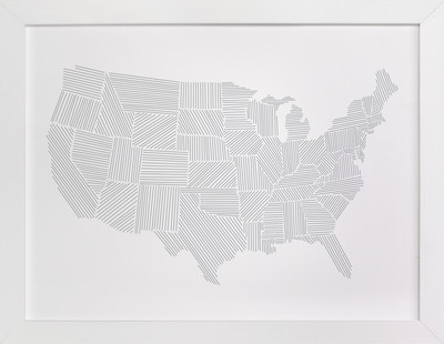 Modern American Map Art Print