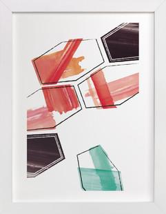 Geometry Uprising One Art Print