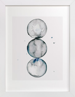 Trio of Spheres Art Print
