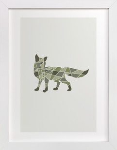 Fox Geometry Art Print