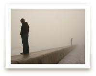 through the fog Art Prints