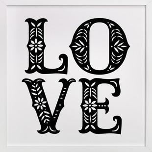 Papercut Love Art Print