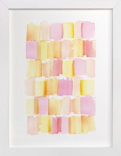 Patchwork Pastels Art Print