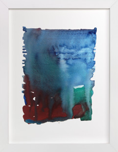 Blue sky/Red clay Art Print