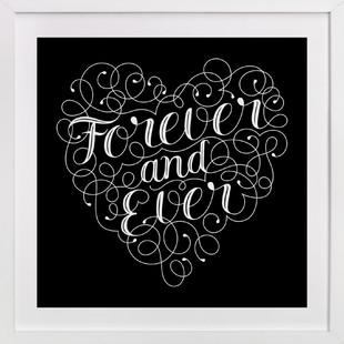 Flourished Forever Heart Art Print