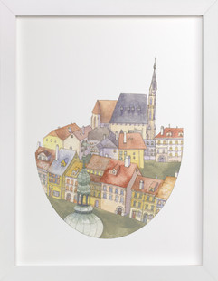 European Rooftops Art Print