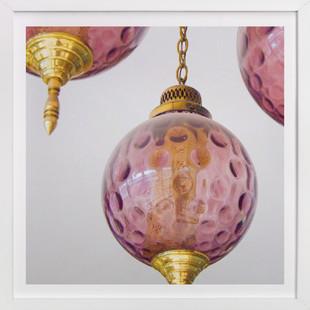Salvaged Purple Pendant Series: No 1 Art Print