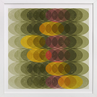 Overlapping Ovals Art Print