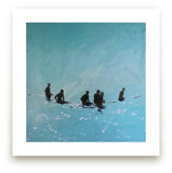 Lining Up, Venice Pier by Annie Seaton