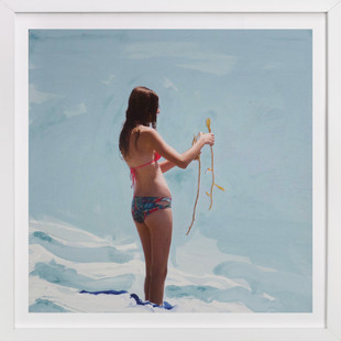 Surfer Bae, Violet Art Print