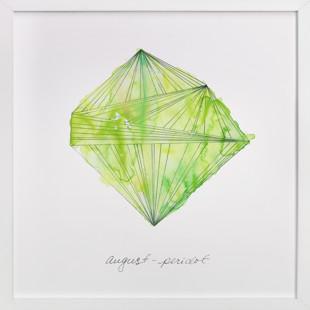 August - Peridot Art Print