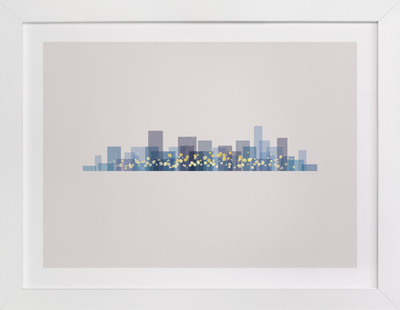 A City at Night Art Print