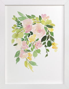 Flora in Peach I Art Print