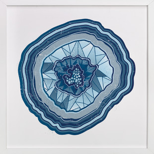 Poly Agate Art Print