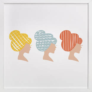 A Blonde, a Brunette, and a Redhead  Art Print