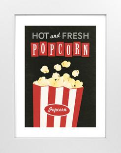 Movie Popcorn Art Print