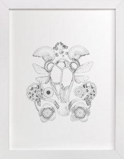 Shrine (cage fungus) Art Print