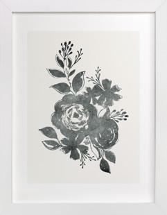 Dark Florals no. 1 Art Print