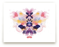Watercolor Inkblot 1 by Kristen Smith