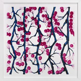DAZZLE BERRY  Art Print
