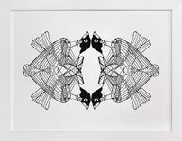 4 Robins Limited Edition Art Print