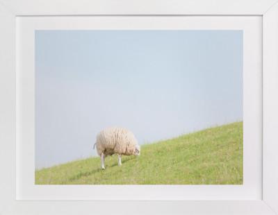 Sheep at Lunch Art Print
